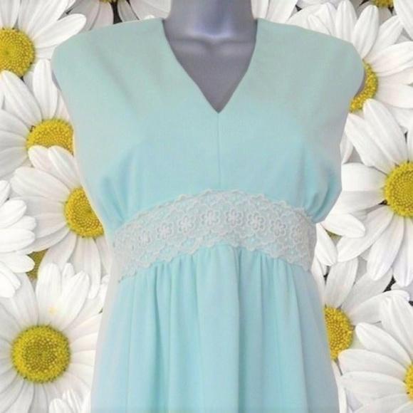 vintage green plus size maxi dress 16 18 1x 2x